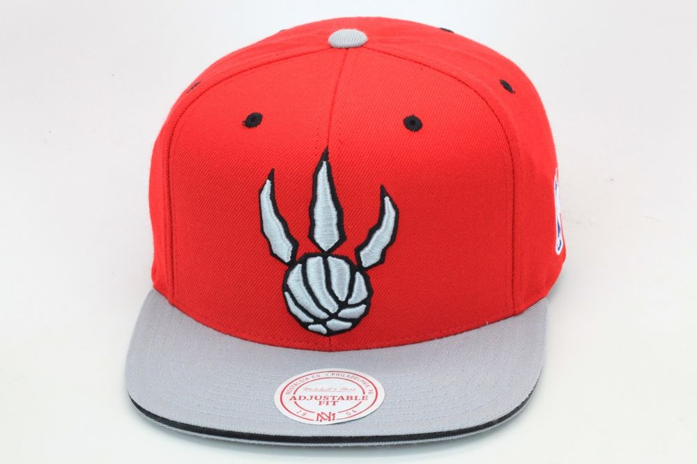 Mitchell Ness NBA Toronto Raptors Snapback Hat Red Grey Current Logo | eBay