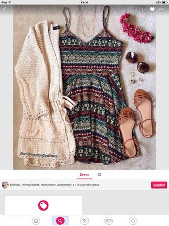 dress tribal print dress