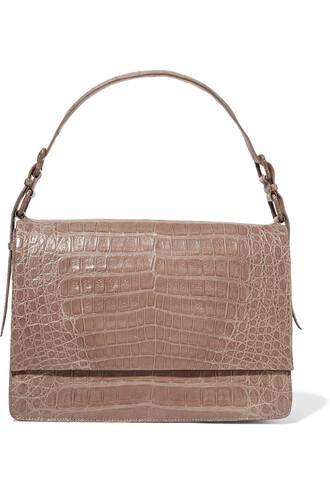 bag shoulder bag crocodile light brown
