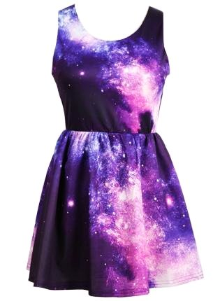 galaxy dress - Dress -  Love it by obeyy_gabbyxo