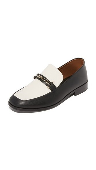 loafers black cream shoes