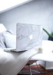 jewels,apple,macbook case,macbook,computer case,white,grey,marble,bag,computer,beautiful bags,computer games,phone cover,technology,classy wishlist,hipster,computer accessory,macbook air,mac cosmetics,mac book,cover,laptop,cute,pattern,tumblr