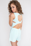Cross the Line Playsuit - Mint