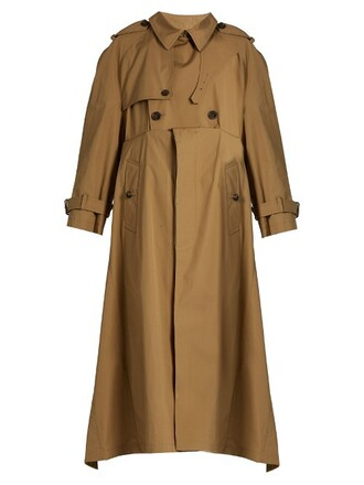 coat trench coat cotton camel