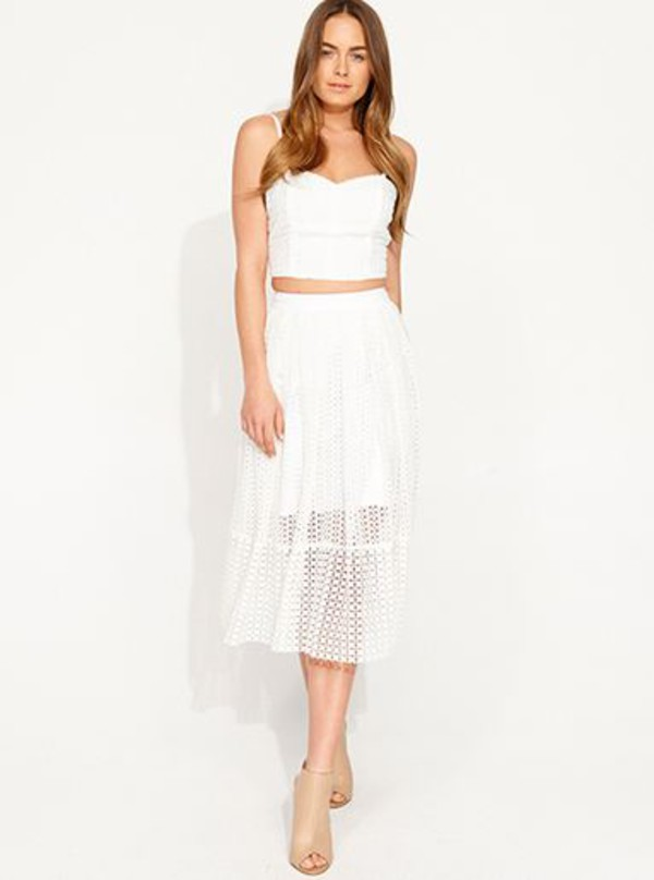 skirt white white dress top shoes outfit cute dress lace dress mesh