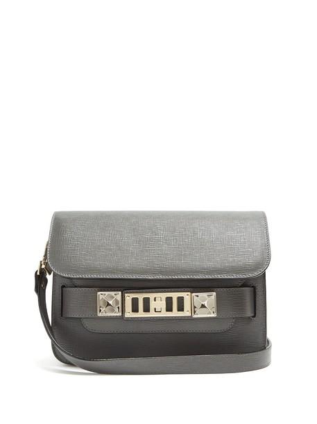 Proenza Schouler mini bag shoulder bag leather grey