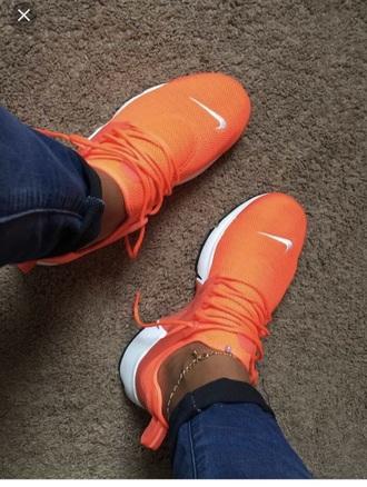 shoes nike orange presto