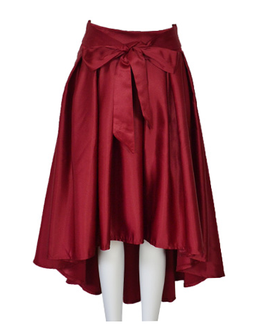 Fashion hot shining bow skirt