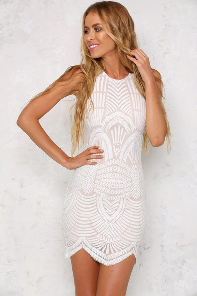 dress white dress bodycon dress