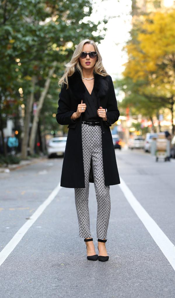 the classy cubicle pants t-shirt coat shoes belt jewels sunglasses