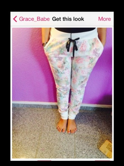 floral pockets pants flowers track pants warm nice