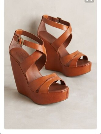 shoes brow wedges leather wedges