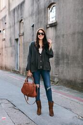kendi everyday,blogger,sweater,top,brown bag,ankle boots,brown boots,fall outfits