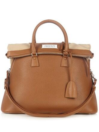 leather camel bag