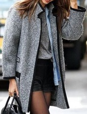 coat,black outline,grey dire black outline,miranda kerr,grey coat