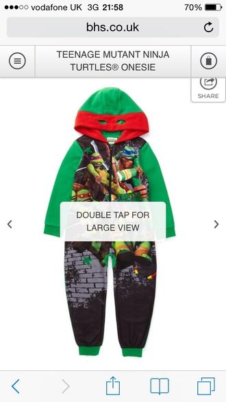 pajamas hood mutant ninja turtles