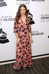 dress,lea michele,celebrity,maxi dress,maxi