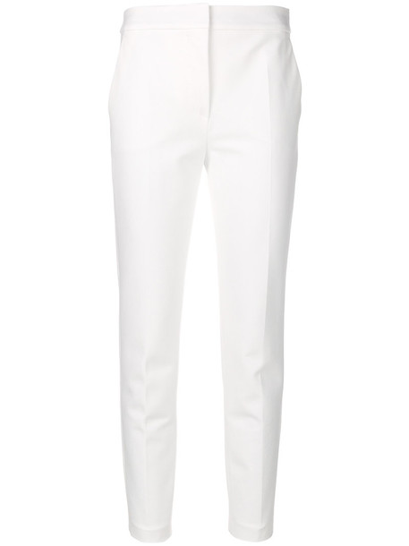 Max Mara cropped women spandex white pants