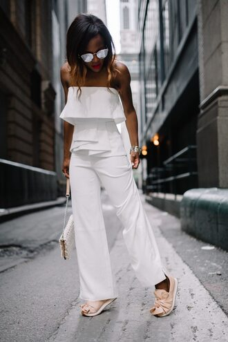shoes sneakers slip on sneakers jumpsuit clutch blogger blogger style