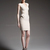 Beige U-neck Flocking Flounces Bandage Dress H887$129