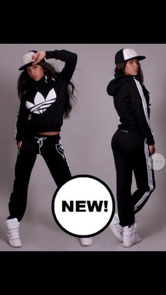 jumpsuit black adidas