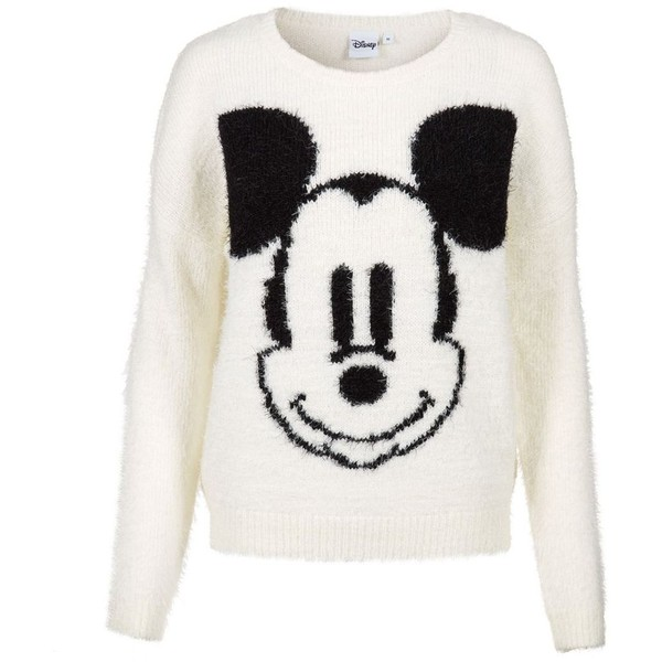 Cream Mickey Mouse Jumper - Polyvore