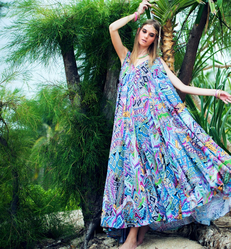Bohemian Maxi With Extremely Flared Finish