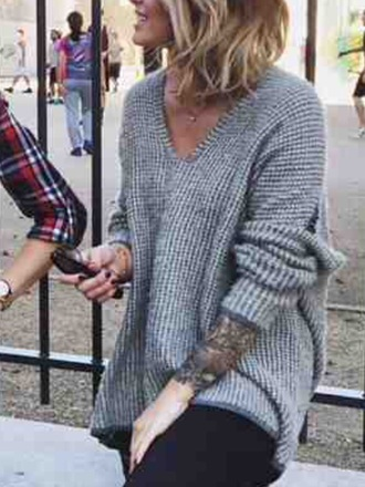 sweater pullover comfy grey sweater oversized sweater