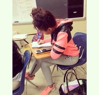 jacket sweatshirt shoes pink joggers kekekrazi keke krazi nike roshes girl pants