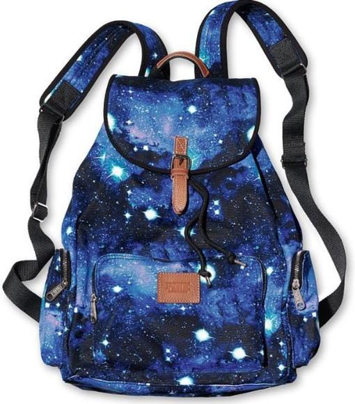 galaxy print hipster bag
