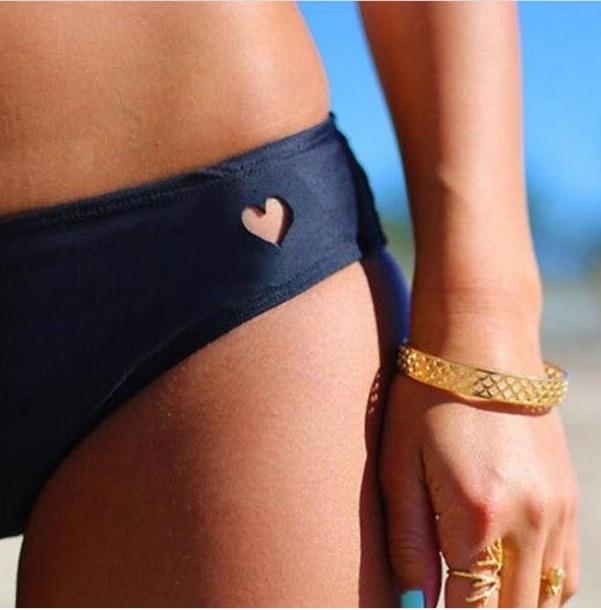 swimwear heart black swimmwear black swimmers