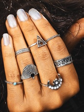jewels,girly,ring,knuckle ring,rings and tings,rings cute summer,silver ring