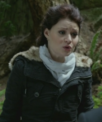 jacket belle once upon a time show scarf emilie de ravin