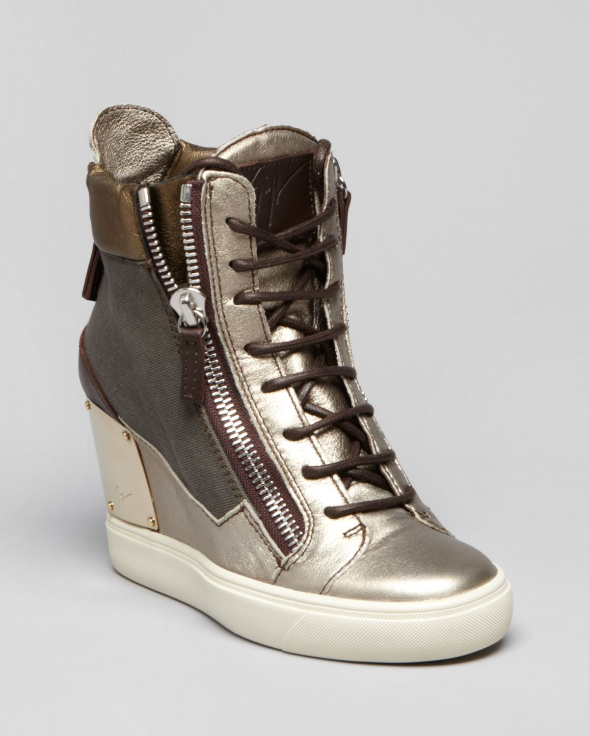 Giuseppe Zanotti Lace Up Wedge Sneakers - Lorenz | Bloomingdale's