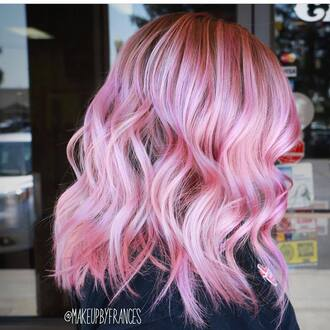 hair accessory pastel pink pastel purple hairstyles pink hair short hair