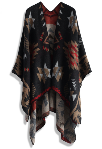 scarf chic aztec blanket cape chicwish cape