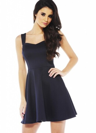 dress chiclook closet black dress trendy skater dress fashion black cute dress girly