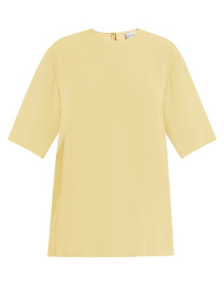 Raey top short yellow
