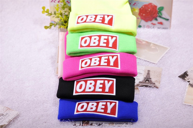 2013 Free shipping Cheap OBEY hat hip hop BBOY winter wool hat knitted hat men and women NY baseball cap winter hat hiphop-in Skullies & Beanies from Apparel & Accessories on Aliexpress.com