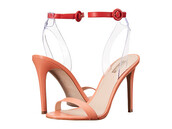 shoes,guess,high heels,high heel sandals,orange shoes,coral sandals,coral,summer