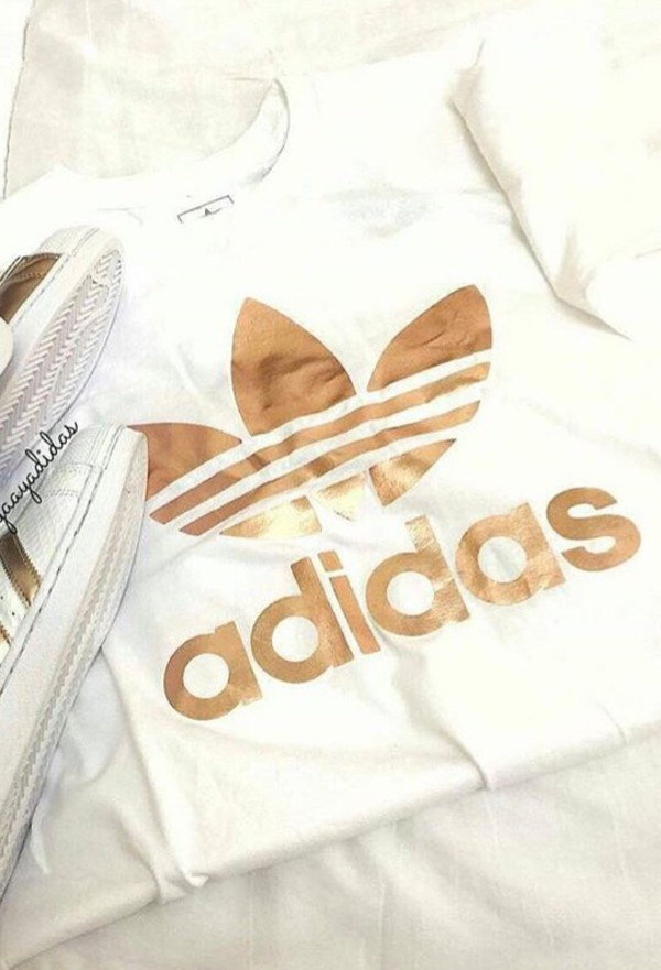 adidas rose gold top