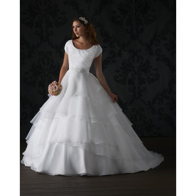 Bonny Love 6407 Modest Ball Gown Wedding Dress - Crazy Sale Bridal ...