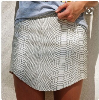 skirt snake skin grey mini skirt