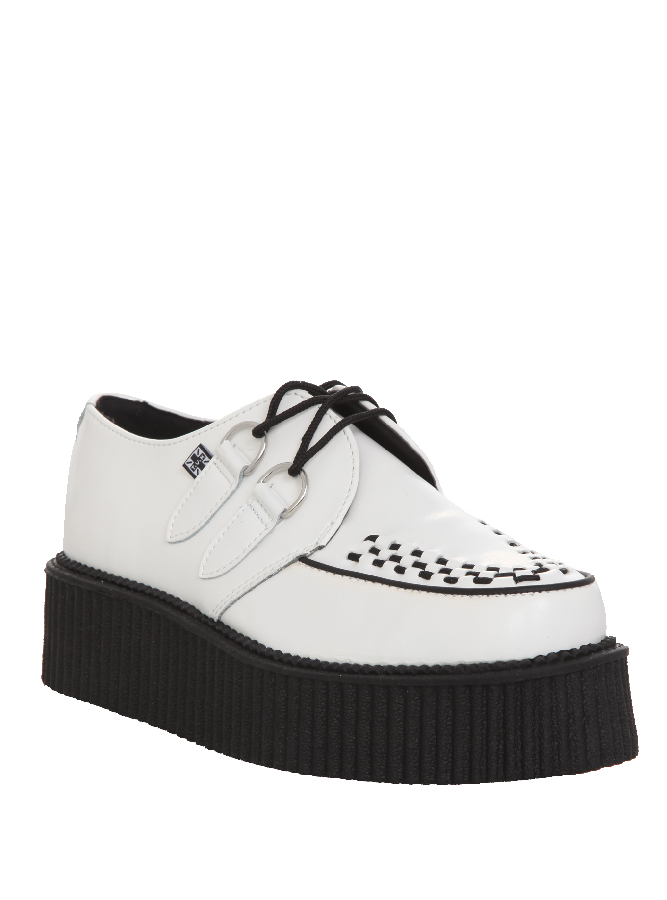 T.U.K. White Mondo Creepers | Hot Topic