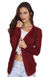 burgundy,burgundy sweater,burgundy cardigan,soft knit sweater,soft knit cardigan,www.ustrendy.com