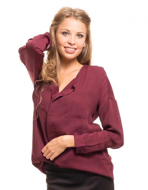 Camisa Changle con caída y bolsillos de Vila Clothes