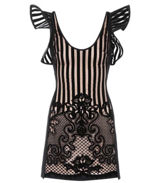 David Koma Flock knit minidress in black
