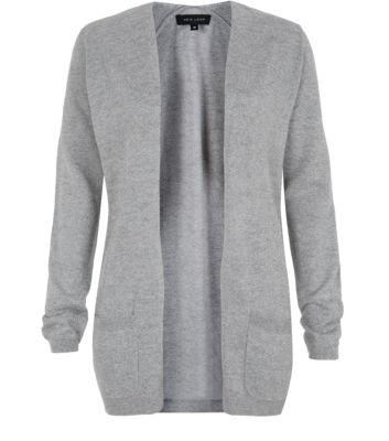 Grey Double Pocket Cardigan