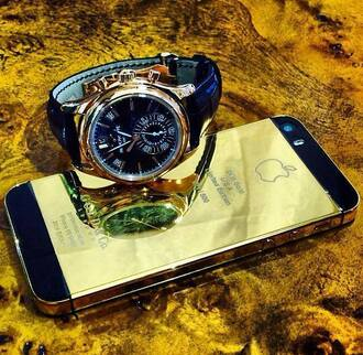 jewels watch iphone gold