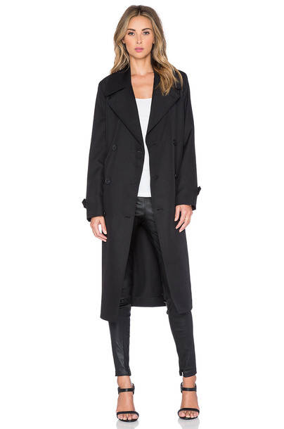 T by Alexander Wang coat trench coat black